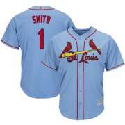 Wholesale Cheap Cardinals #1 Ozzie Smith Light Blue Cool Base Stitched Youth MLB Jersey