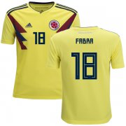 Wholesale Cheap Colombia #18 Fabra Home Kid Soccer Country Jersey