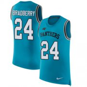 Wholesale Cheap Nike Panthers #24 James Bradberry Blue Alternate Men's Stitched NFL Limited Rush Tank Top Jersey