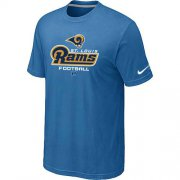 Wholesale Cheap Nike Los Angeles Rams Critical Victory NFL T-Shirt Light Blue