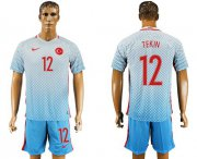 Wholesale Cheap Turkey #12 Tekin Away Soccer Country Jersey