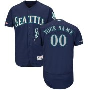 Wholesale Cheap Seattle Mariners Majestic Alternate Flex Base Authentic Collection Custom Jersey Navy