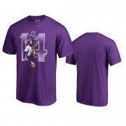 Wholesale Cheap Minnesota Vikings #14 Stefon Diggs Purple Men's Player Graphic Powerhouse T-Shirt