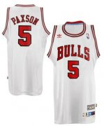 Wholesale Cheap Chicago Bulls #5 John Paxson White Swingman Throwback Jersey