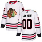 Wholesale Cheap Men's Adidas Blackhawks Personalized Authentic White Road NHL Jersey