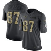 Wholesale Cheap Nike Patriots #87 Rob Gronkowski Black Youth Stitched NFL Limited 2016 Salute to Service Jersey