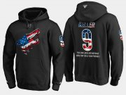 Wholesale Cheap Coyotes #9 Clayton Keller NHL Banner Wave Usa Flag Black Hoodie