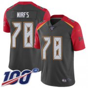 Wholesale Cheap Nike Buccaneers #78 Tristan Wirfs Gray Youth Stitched NFL Limited Inverted Legend 100th Season Jersey