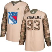 Wholesale Cheap Adidas Rangers #93 Mika Zibanejad Camo Authentic 2017 Veterans Day Stitched Youth NHL Jersey