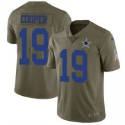 Wholesale Cheap Nike Cowboys #19 Amari Cooper Olive Youth Stitched NFL Limited 2017 Salute to Service Jersey