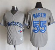 Wholesale Cheap Blue Jays #55 Russell Martin Grey New Cool Base Stitched MLB Jersey