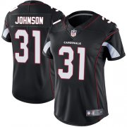 Wholesale Cheap Nike Cardinals #31 David Johnson Black Alternate Women's Stitched NFL Vapor Untouchable Limited Jersey