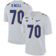 Wholesale Cheap Pittsburgh Panthers 70 Brian O'Neill White 150th Anniversary Patch Nike College Football Jersey