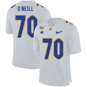 Wholesale Cheap Pittsburgh Panthers 70 Brian O\'Neill White 150th Anniversary Patch Nike College Football Jersey