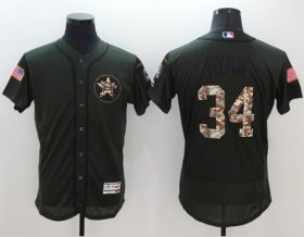 Wholesale Astros #34 Nolan Ryan Green Flexbase Authentic Collection Salute to Service Stitched Baseball Jersey