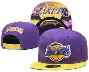 Wholesale Cheap Los Angeles Lakers Snapback Ajustable Cap Hat YD 21