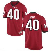 Wholesale Cheap Men's Georgia Bulldogs #40 Theron Sapp Red Stitched College Football 2016 Nike NCAA Jersey