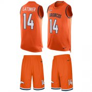 Wholesale Cheap Nike Broncos #14 Cody Latimer Orange Team Color Men's Stitched NFL Limited Tank Top Suit Jersey