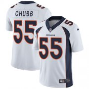 Wholesale Cheap Nike Broncos #55 Bradley Chubb White Men's Stitched NFL Vapor Untouchable Limited Jersey