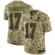 Wholesale Cheap Nike Saints #17 Emmanuel Sanders Camo Youth Stitched NFL Limited 2018 Salute To Service Jersey