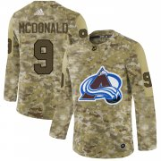 Wholesale Cheap Adidas Avalanche #9 Lanny McDonald Camo Authentic Stitched NHL Jersey