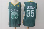 Wholesale Cheap Men's Golden State Warriors #35 Kevin Durant Dark Green 2017-2018 Nike Swingman Rakuten Stitched NBA Jersey