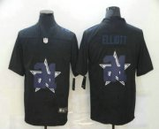 Wholesale Cheap Men's Dallas Cowboys #21 Ezekiel Elliott Black 2020 Shadow Logo Vapor Untouchable Stitched NFL Nike Limited Jersey