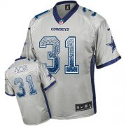Wholesale Cheap Nike Cowboys #31 Byron Jones Grey Men's Stitched NFL Elite Drift Fashion Jersey