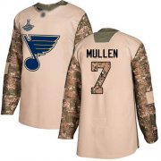 Wholesale Cheap Adidas Blues #7 Joe Mullen Camo Authentic 2017 Veterans Day Stanley Cup Champions Stitched NHL Jersey
