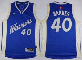 Wholesale Cheap Men\'s Golden State Warriors #40 Harrison Barnes Revolution 30 Swingman 2015 Christmas Day Blue Jersey