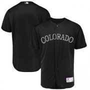 Wholesale Cheap Colorado Rockies Blank Majestic 2019 Players' Weekend Flex Base Authentic Team Jersey Black