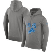 Wholesale Cheap Detroit Lions Nike Sideline Property of Performance Pullover Hoodie Gray