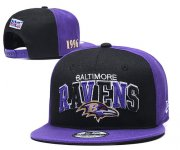 Wholesale Cheap Ravens Team Logo Purple 1996 Anniversary Adjustable Hat YD