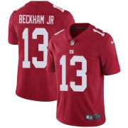 Wholesale Cheap Nike Giants #13 Odell Beckham Jr Red Alternate Men's Stitched NFL Vapor Untouchable Limited Jersey