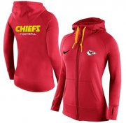 Wholesale Cheap Women's Nike Kansas City Chiefs Full-Zip Performance Hoodie Red