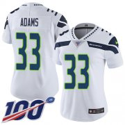 Wholesale Cheap Nike Seahawks #33 Jamal Adams White Women's Stitched NFL 100th Season Vapor Untouchable Limited Jersey