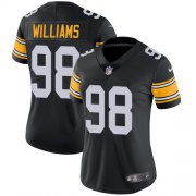 Wholesale Cheap Nike Steelers #98 Vince Williams Black Alternate Women's Stitched NFL Vapor Untouchable Limited Jersey
