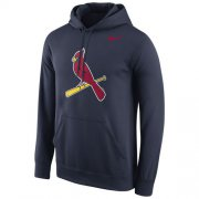Wholesale Cheap St.Louis Cardinals Nike Logo Performance Pullover Navy MLB Hoodie