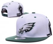 Wholesale Cheap NFL Philadelphia Eagles Fresh Logo White Adjustable Hat 11
