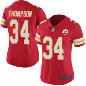 Wholesale Cheap Nike Chiefs #34 Darwin Thompson Red Team Color Women\'s Stitched NFL Vapor Untouchable Limited Jersey