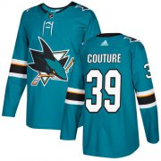 Wholesale Cheap Adidas Sharks #39 Logan Couture Teal Home Authentic Stitched Youth NHL Jersey