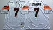 Wholesale Cheap Mitchell And Ness Bengals #7 Boomer Esiason White Throwback Stitched NFL Jersey