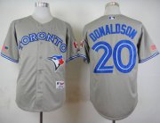 Wholesale Cheap Blue Jays #20 Josh Donaldson Grey Road Cool Base Stitched MLB Jersey