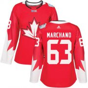 Wholesale Cheap Team Canada #63 Brad Marchand Red 2016 World Cup Women's Stitched NHL Jersey