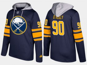 Wholesale Cheap Sabres #90 Ryan O\'Reilly Blue Name And Number Hoodie