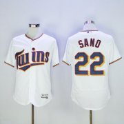 Wholesale Twins #22 Miguel Sano White Flexbase Authentic Collection Stitched Baseball Jersey
