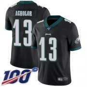 Wholesale Cheap Nike Eagles #13 Nelson Agholor Black Alternate Men's Stitched NFL 100th Season Vapor Limited Jersey