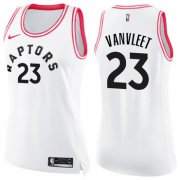 Wholesale Cheap Nike Toronto Raptors #23 Fred VanVleet White Pink Women's NBA Swingman Fashion Jersey