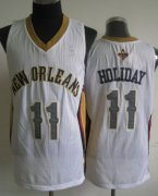Wholesale Cheap New Orleans Pelicans #11 Jrue Holiday White Swingman Jersey