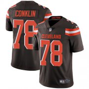 Wholesale Cheap Nike Browns #78 Jack Conklin Brown Team Color Men's Stitched NFL Vapor Untouchable Limited Jersey